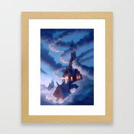 Frigg, Weaver of Clouds Framed Art Print