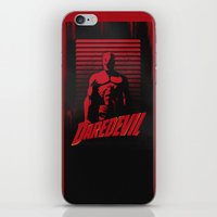 daredevil iPhone & iPod Skins featuring DareDevil by W.B.