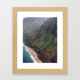 Soaring Over Kalalau Trail Kauai Framed Art Print