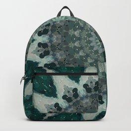Silver Green Subdued Mandala Backpack