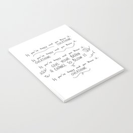 If You're Happy And You Know It, Overthink Notebook