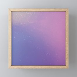 Faded Vintage Pink and Purple Ombre Galaxy Framed Mini Art Print
