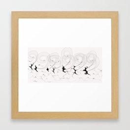 Kite-surfers Framed Art Print