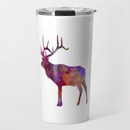 Elk 01 in watercolor Travel Mug