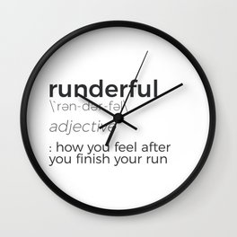 Adrenaline Rush Runner's High Running Is Life Run Design Wall Clock