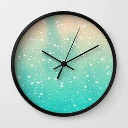 Cosmic Snowfall Wall Clock