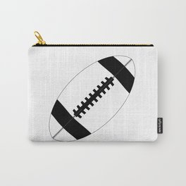 American Football In Black And White Carry-All Pouch