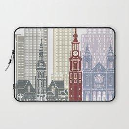 Amsterdam V2 skyline poster Laptop Sleeve