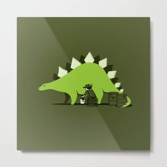 Crude oil comes from dinosaurs Metal Print