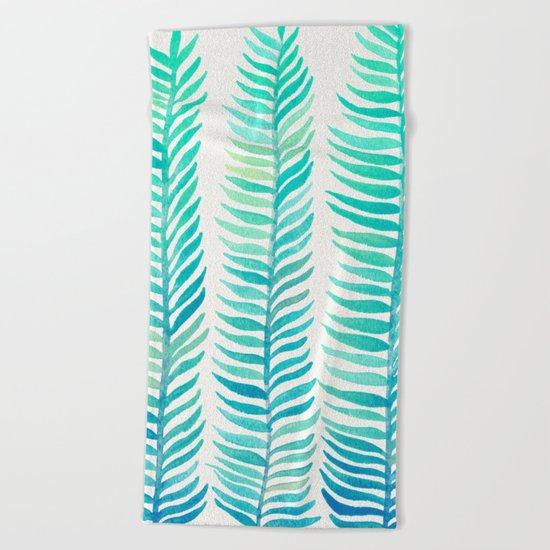 Seafoam Seaweed Beach Towel
