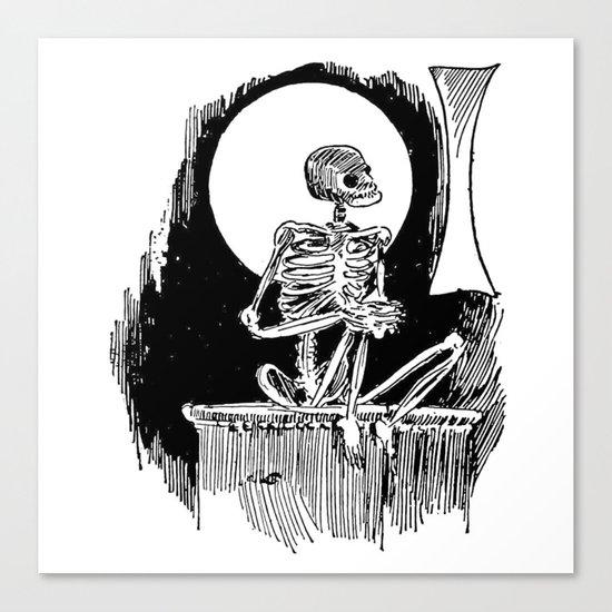 Skeleton waiting Canvas Print