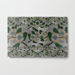 Australian Leatherwood ~muted white background~ (small patterning). Metal Print