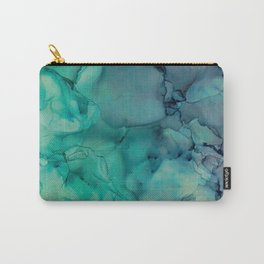 Alcohol ink blues Carry-All Pouch
