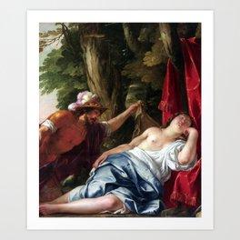 Jacques Blanchard Mars and the Vestal Virgin Art Print