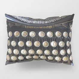Vintage Typewriter Pillow Sham