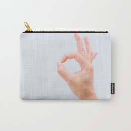 OK Hand Gesture Carry-All Pouch