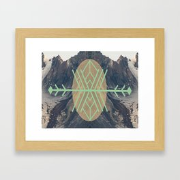 Mountains With Green Framed Art Print