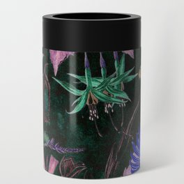 Botanical Study #3, Vintage Botanical Illustration Collage Art Can Cooler