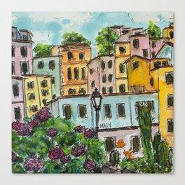 Viareggio Villas Canvas Print