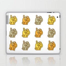 Huejly Listening Intently Repeatedly Multitone Elephants Laptop & iPad Skin