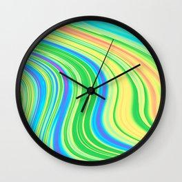 Liquid Rainbow Road Marble Wall Clock