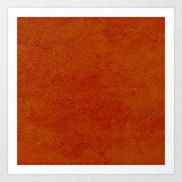 concrete orange brown copper plain texture Art Print