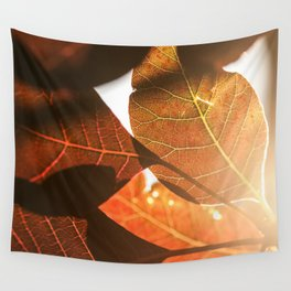 Sunlit leaves Wall Tapestry