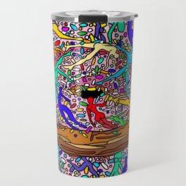 Human Donut Sprinkles Travel Mug