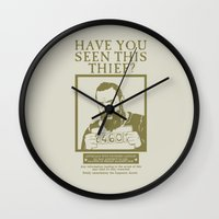 les mis Wall Clocks featuring [ Les Miserables ] Jean Valjean Hugh Jackman Mis by Vyles