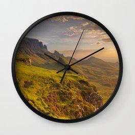 I - Sunrise at Quiraing, Isle of Skye, Scotland Wall Clock