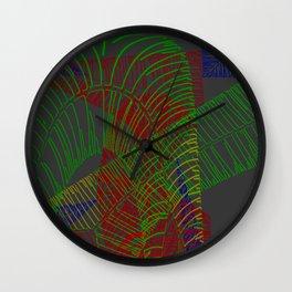 Stichelstrichelei Wall Clock