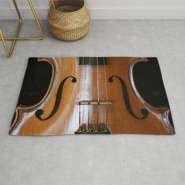Close-up of Beautiful Violin Black Background #decor #society6 #buyart Rug
