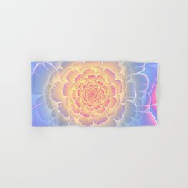 Romantic violet and yellow flower Hand & Bath Towel