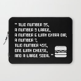 Big Smoke's Order (2 number 9s) gta san andreas drive thru mission typography text with burger icon Laptop Sleeve