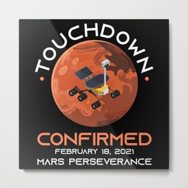 Mars Rover Mission Landed February Metal Print