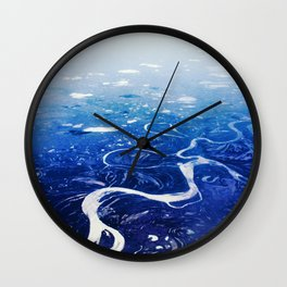 Overlook of Mountains Wall Clock