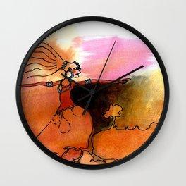 Time Flows Through Me Wall Clock