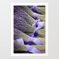 lavender Art Prints featuring Lavender by Elysa Darling