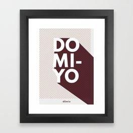 Domi-Yo: Burgundy Framed Art Print