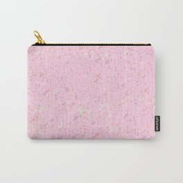 cute soft pink abstract background illustration with colorful spots and blots Carry-All Pouch
