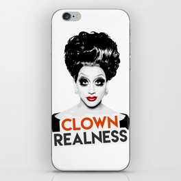 """Clown Realness"" Bianca Del Rio, RuPaul's Drag Race Queen iPhone Skin"