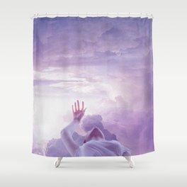 levitate like static Shower Curtain