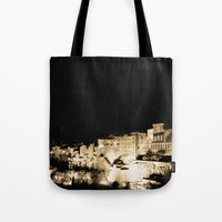 medieval Tote Bags featuring Medieval Night by Schwebewesen • Romina Lutz