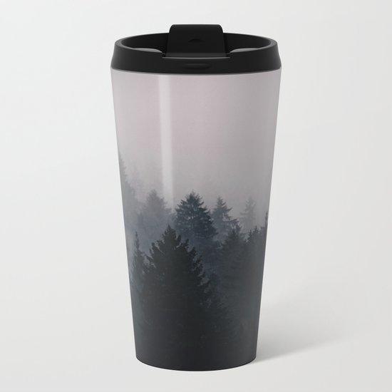 Opening Dimensional Metal Travel Mug