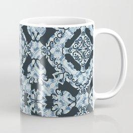 Bull amongst flowers antique denim primitive pattern Coffee Mug