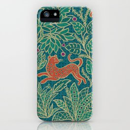 Jungle Fawn and Cat iPhone Case