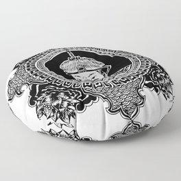 Qing dynasty inspired mandala Floor Pillow