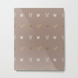 Animal pattern Metal Print