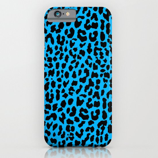 Neon Blue Leopard iPhone & iPod Case