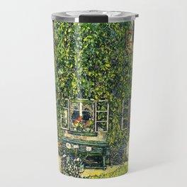 Ivy Covered Chateau - Gustav Klimt Travel Mug